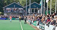 BLOEMENDAAL - Clubhuis van HC Bloemendaal bij hoofdklasse competietiewedstrijd heren tussen Bloemendaal en Laren (9-1). Foto KOEN SUYK