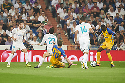 September 13, 2017 - Madrid, Spain - Casemiro (midfielder; Real Madrid), Mateo Kovacic (midfielder; Real Madrid), Gareth Bale (midfielder; Real Madrid) in action during the UEFA Champions League match between Real Madrid and Apoel FC at Santiago Bernabeu on September 13, 2017 in Madrid (Credit Image: © Jack Abuin via ZUMA Wire)