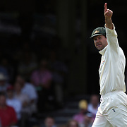 Australian captain Ricky Ponting directs his team during day three of the third test match between Australia and South Africa at the Sydney Cricket Ground on January 5, 2009 in Sydney, Australia. Photo Tim Clayton