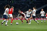 Kim Little dribbles forward during the FA Women's Super League match between Tottenham Hotspur Women and Arsenal Women FC at Tottenham Hotspur Stadium, London, United Kingdom on 17 November 2019.