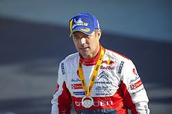 October 28, 2018 - Barcelona, Catalonia, Spain - The French driver, Sebastien Loeb of Citren Total Abu Dhabi WRT, at podium ceremony during the last day of WRC Rally Racc Catalunya, on October 28, 2018 in Salou, Spain. (Credit Image: © Joan Cros/NurPhoto via ZUMA Press)