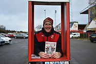 Todays match programme for sale during the The FA Cup 2nd round match between Swindon Town and Woking at the County Ground, Swindon, England on 2 December 2018.