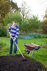 Laying turf - preparing the ground