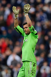 Ben Foster (ENG) of West Brom looks frustrated as he applauds the supporters having seen a 3-0 lead slip to a 3-3 draw - Photo mandatory by-line: Rogan Thomson/JMP - 07966 386802 - 12/04/2014 - SPORT - FOOTBALL - The Hawthorns Stadium - West Bromwich Albion v Tottenham Hotspur - Barclays Premier League.