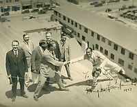 1927 Douglas Fairbanks clowns around with some Hollywood Businessmen. C.E. Toberman is 2nd from left.