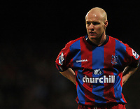 Photo: Javier Garcia/Back Page Images Mobile 07887 794393<br />03/01/2005 Crystal Palace v Aston Villa, FA Barclays Premiership, Selhurst Park<br />Crystal palace's two goal hero Andy Johnson