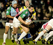 Wycombe. GREAT BRITAIN,  5th November 2004, Zurich Premiership Rugby,  London Wasps vs Harlequins, Adams Park, ENGLAND, [Mandatory Credit; Peter Spurrier/Intersport-images],<br /> Harlequins No. 8 tony Diprose, breaks from the back of the scrum,<br /> [Mandatory Credit; Peter Spurrier/Intersport Images]