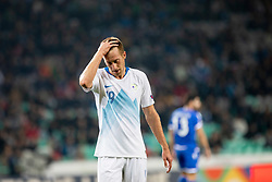 Robert Beric of Slovenia during football match between National Teams of Slovenia and Cyprus in Final Tournament of UEFA Nations League 2019, on October 16, 2018 in SRC Stozice, Ljubljana, Slovenia. Photo by Urban Urbanc / Sportida
