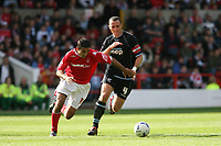 Photo: Pete Lorence.<br />Nottingham Forest v Scunthorpe United. Coca Cola League 1. 07/10/2006.<br />Forest's Jack Lester and Andy Crosby battle for the ball.
