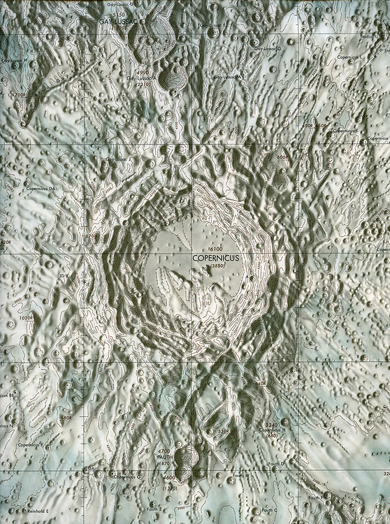 Detail of chart produced from photographs of Copernicus crater.
