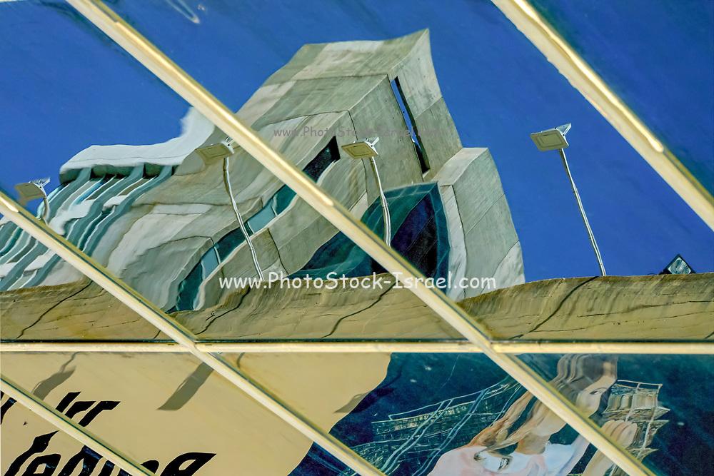 Exterior of the Tel Aviv Museum of Art. Tel Aviv, Israel. Abstract Architecture