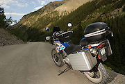 2002 BMW F650 GS Dakar on pass in Colorado near Lake City
