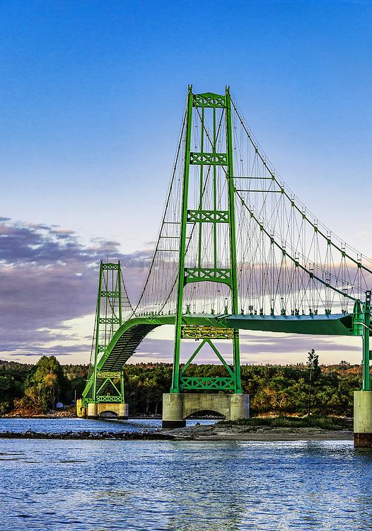 Deer Isle Bridge, Maine, USA.