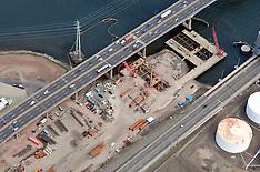 Aerial Photographs of the Pearl Harbor Memorial Bridge New Haven CT 2009 | Detail Views