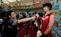 27-08-2010 VOLLEYBAL: WGP FINAL JAPAN - ITALY: BEILUN NINGBO<br /> Japan beats Italy in five sets / Saori Kimura <br /> ©2010-WWW.FOTOHOOGENDOORN.NL