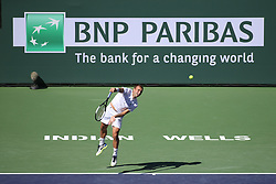March 8, 2019 - Indian Wells, CA, U.S. - INDIAN WELLS, CA - MARCH 08: Daniel Evans (GBR) serves during the BNP Paribas Open on March 7, 2019 at Indian Wells Tennis Garden in Indian Wells, CA. (Photo by George Walker/Icon Sportswire) (Credit Image: © George Walker/Icon SMI via ZUMA Press)