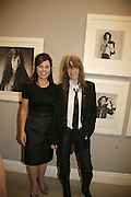 ALISON JACQUES AND PATTI SMITH, Photos by Robert Mapplethorpe: Still Moving & Lady, Alison Jacques Gallery, 4 Clifford Street, London, W1, Dinner afterwards at the  The Dorchester with performance by Patti Smith, 7 September 2006.  ONE TIME USE ONLY - DO NOT ARCHIVE  © Copyright Photograph by Dafydd Jones 66 Stockwell Park Rd. London SW9 0DA Tel 020 7733 0108 www.dafjones.com