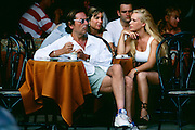 France, Provence, Juan-les-Pins, French Riviera, people in cafe