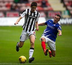 Dunfermline's Ryan Williamson and Cowdenbeath's Craig Johnston. Half time : Dunfermline 0 v 0 Cowdenbeath, Scottish League Cup game played today at East End Park.