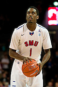 DALLAS, TX - JANUARY 21: Ryan Manuel #1 of the SMU Mustangs shoots a free-throw against the Rutgers Scarlet Knights on January 21, 2014 at Moody Coliseum in Dallas, Texas.  (Photo by Cooper Neill/Getty Images) *** Local Caption *** Ryan Manuel