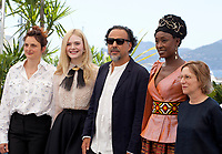 Alice Rohrwacher, Elle Fanning, Alejandro Gonzalez Inarritu, Maimouna N'Diaye and Kelly Reichardt at the  Jury photo call at the 72nd Cannes Film Festival, Tuesday 14th May 2019, Cannes, France. Photo credit: Doreen Kennedy