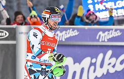 13.11.2016, Black Race Course, Levi, FIN, FIS Weltcup Ski Alpin, Levi, Slalom, Herren, 2. Lauf, im Bild Sieger Marcel Hirscher (AUT) // Winner Marcel Hirscher of Austria  reacts after his 2nd run of mens Slalom of FIS ski alpine world cup at the Black Race Course in Levi, Finland on 2016/11/13. EXPA Pictures © 2016, PhotoCredit: EXPA/ Nisse Schmidt<br /> <br /> *****ATTENTION - OUT of SWE*****