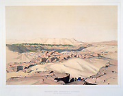 Desert and Quarries - Aswan, with the Island of Elephantine', c1855.; lithograph after watercolour by Lord Wharncliffe c1855. Egypt