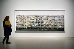 © Licensed to London News Pictures. 24/01/2018. London, UK. Photograph titled Paris, Montparnasse, 1993, by artist ANDREAS GURSKY is on display as part the first major UK retrospective of the German photographer. The showcase also marks the Haywood galleries 50th anniversary following its two year refurbishment. Photo credit: Ray Tang/LNP
