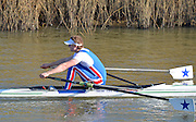 Boston, Great Britain. Men's Single Scull trial. GBR M1X. James RUDKIN.  2013. GBRowing second assessment, Boston Rowing Club, River Witham, Lincolnshire.    Saturday  09/02/2013.   [Mandatory Credit. Peter Spurrier/Intersport Images]