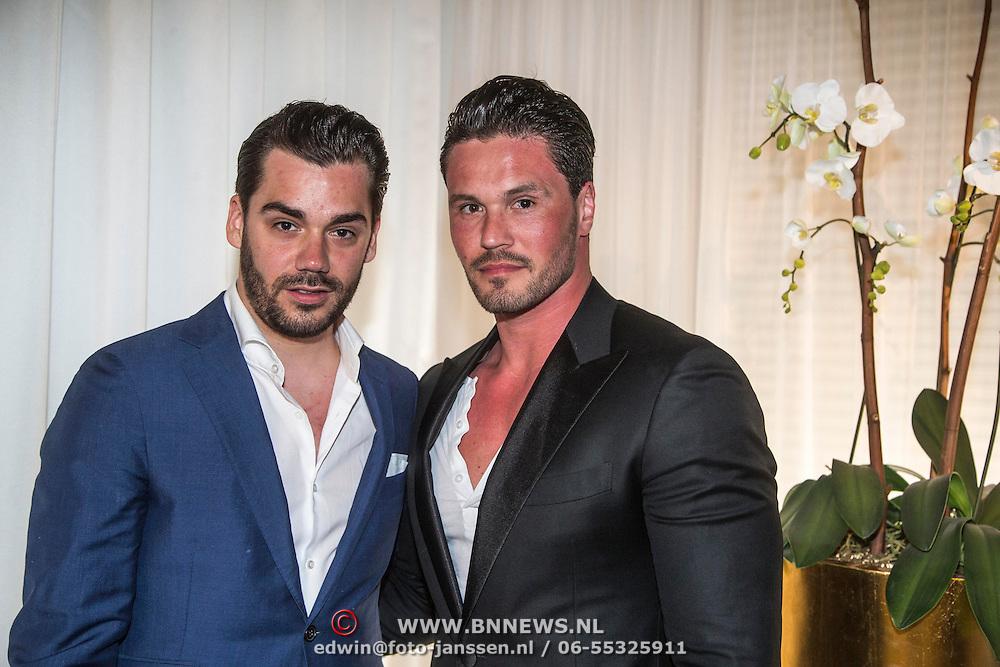 NLD/Amsterdam/20140615 - Opname aflevering Holland Next Top Model 2014, Janice en partner Andy Wijnen