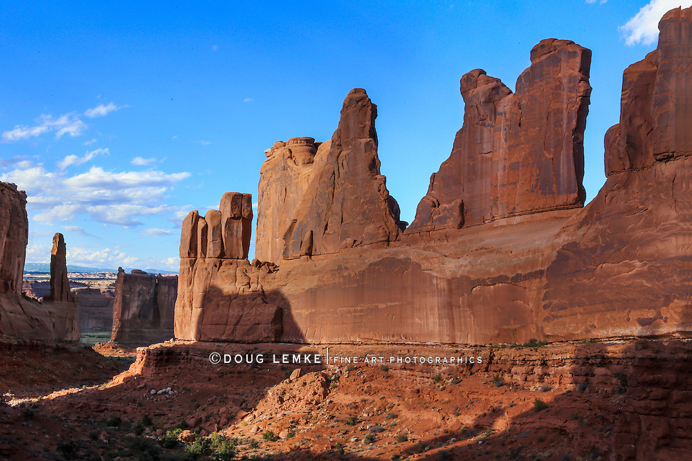 Park Avenue at Arches National Park, Utah, USA