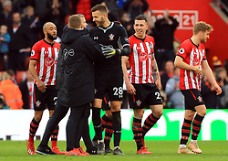 Southampton players celebrate after the final whistle