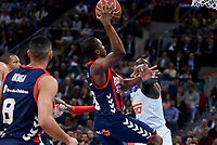 Baskonia's Rodrigue Beaubois and Real Madrid's Othello Hunter during Semi Finals match of 2017 King's Cup at Fernando Buesa Arena in Vitoria, Spain. February 18, 2017. (ALTERPHOTOS/BorjaB.Hojas)