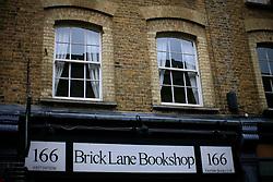 UK ENGLAND LONDON 4NOV12 - Street scene with Brick Lane Bookshop on Brick Lane in London's trendy east end.....jre/Photo by Jiri Rezac....© Jiri Rezac 2012