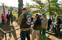 Dedication ceremony held at Langley cemetery on Saturday morning.  (Karen Bobotas/for the Laconia Daily Sun)