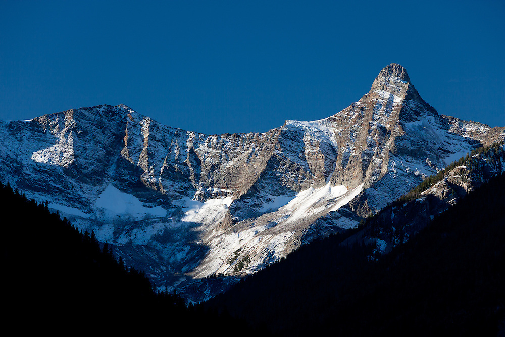 East side of Old Hyndman Peak at 11,775 feet in Pioneer Mountains as seen from Wildhorse Canyon.  Licensing and Open Edition Prints.