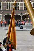 Prinsjesdag 2013 Nieuw vaandel van Koning Willem Alexander<br /> <br /> Budget Day 2013 New banner of King William Alexander