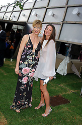 Left to right, Party hosts JULIA PEYTON-JONES and TAMARA MELLON at the annual Serpentine Gallery Summer Party co-hosted by Jimmy Choo shoes held at the Serpentine Gallery, Kensington Gardens, London on 30th June 2005.<br /><br />NON EXCLUSIVE - WORLD RIGHTS
