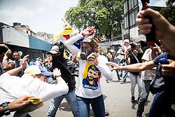 April 18, 2017 - Caracas, Venezuela - LILIAN TINTORI, wife of jailed Venezuelan opposition leader Leopoldo Lopez, during a protest against Venezuelan President Nicolas Maduro, in Caracas on April 19, 2017 (Credit Image: © Panoramic via ZUMA Press)
