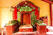 A traditional Chinese shrine in Macau.