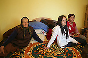 Razvan's grand-mothers and his cousin in the middle.