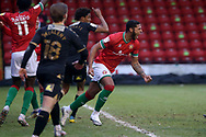 GOAL CELE 1-0 Walsall's Zak Jules during the EFL Sky Bet League 2 match between Walsall and Oldham Athletic at the Banks's Stadium, Walsall, England on 16 January 2021.