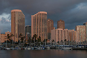 Some of the condos and hotels in Waikiki, Oahu, Hawaii.