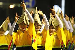 August 13, 2017 - Tokushima - Participants dance as the Awa Odori dance festival begins on August 12, 2017 in Tokushima, Japan. (Credit Image: © Hitoshi Yamada/NurPhoto via ZUMA Press)