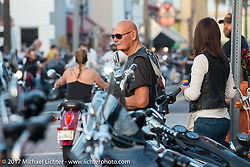Main Street at the end of the first day during Daytona Beach Bike Week. FL. USA. Saturday March 11, 2017. Photography ©2017 Michael Lichter.
