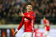 Manchester United's Marcos Rojo during the Europa League Quarter Final 1st leg match at RSCA Constant Vanden Stock Stadium, Anderlecht, Belgium. Picture date: April 13th, 2017.Pic credit should read: Charlie Forgham-Bailey/Sportimage