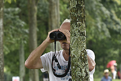 October 15, 2017 - Kuala Lumpur, MALAYSIA - The spectator is using a telescope during the CIMB Classic 2017 day 4 on October 15, 2017 at TPC Kuala Lumpur, Malaysia. (Credit Image: © Chris Jung via ZUMA Wire)