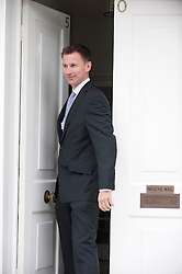 Jeremy Hunt, the Minister for Culture & Media  leaving his home to appear at the Leveson Inquiry  in London, Thursday, 31st May 2012 . Photo by: i-Images