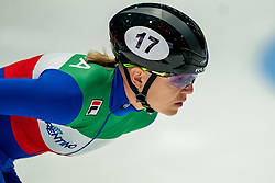 Adrianna Fontana of Italy in action on 1500 meter during ISU World Short Track speed skating Championships on March 05, 2021 in Dordrecht
