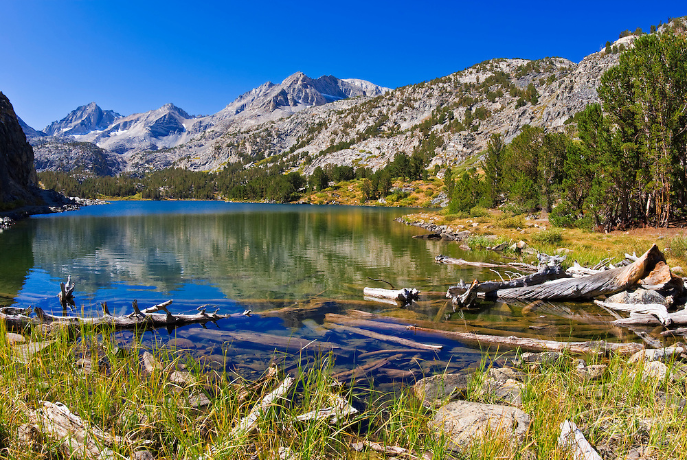Long Lake in Little Lakes Valley, John Muir Wilderness, Sierra Nevada Mountains, California